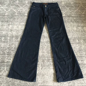 Michael Kors Jeans Flared 0 Wide Leg Dark Wash
